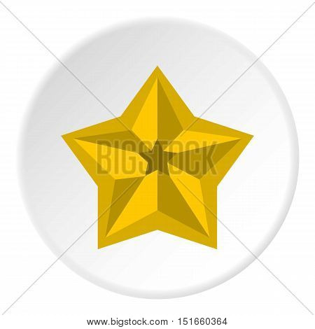 Five pointed celestial star icon. Flat illustration of five pointed celestial star vector icon for web