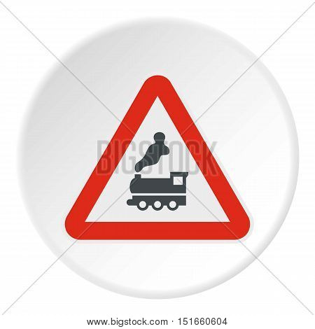 Sign railroad icon. Flat illustration of sign railroad vector icon for web