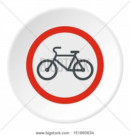 Sign bicycle path icon. Flat illustration of sign bicycle path vector icon for web