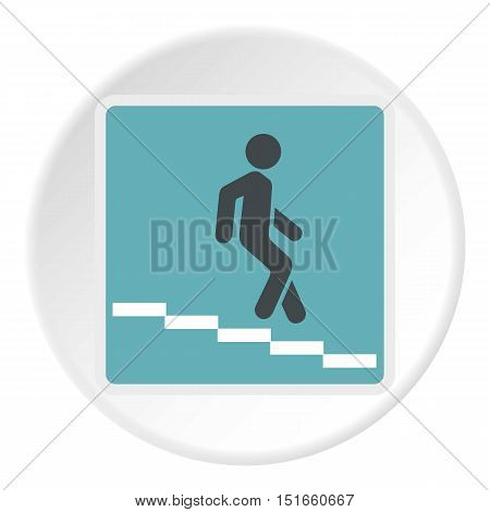 Sign escalator icon. Flat illustration of sign escalator vector icon for web
