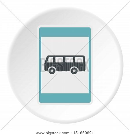 Sign bus stop icon. Flat illustration of sign bus stop vector icon for web