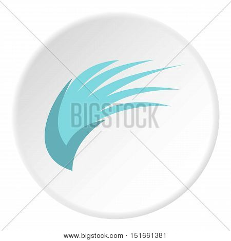Blue birds wing icon. Flat illustration of blue birds wing vector icon for web