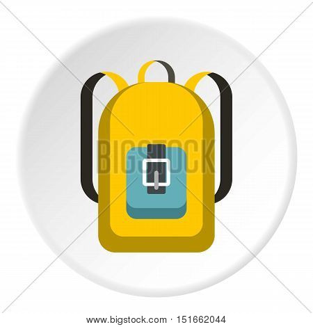 School backpack icon. Flat illustration of school backpack vector icon for web