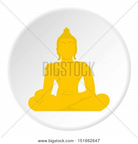 Buddha statue icon. Flat illustration of buddha statue vector icon for web