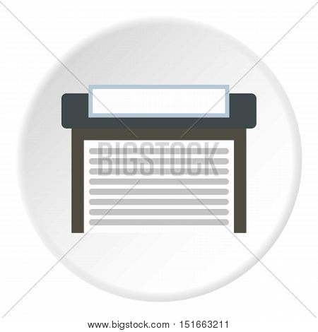 Garage with gate icon. Flat illustration of garage with gate vector icon for web