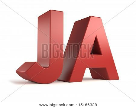 big 3d text - ja