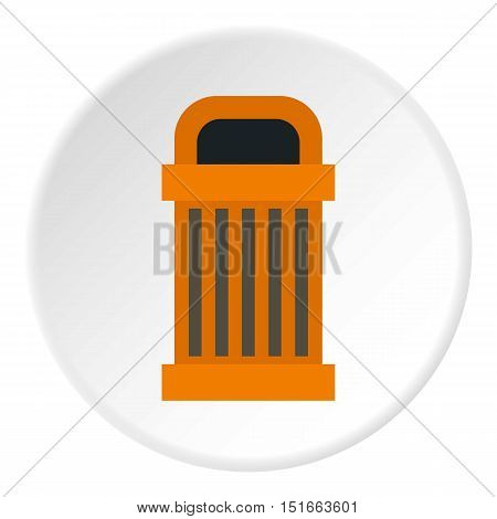 Trash icon. Flat illustration of trash vector icon for web