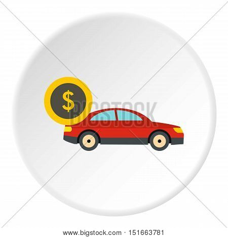 Buying car icon. Flat illustration of buying car vector icon for web