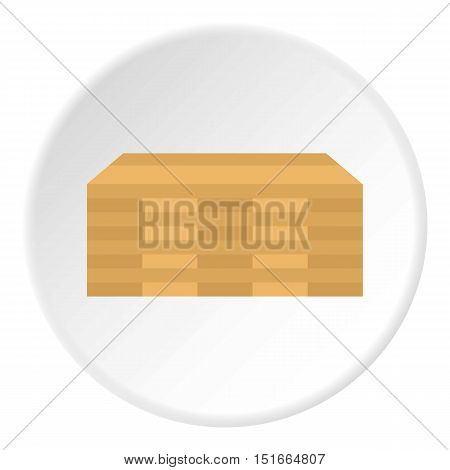 Wooden boards icon. Flat illustration of wooden boards vector icon for web