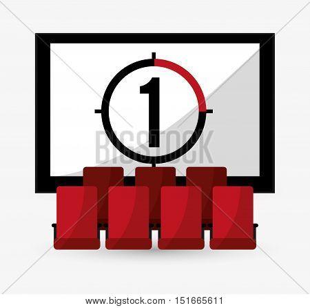 Theatre icon. Cinema movie video film and entertainment theme. Colorful design. Vector illustration