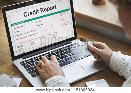 Credit Report Financial Banking Economy Concept