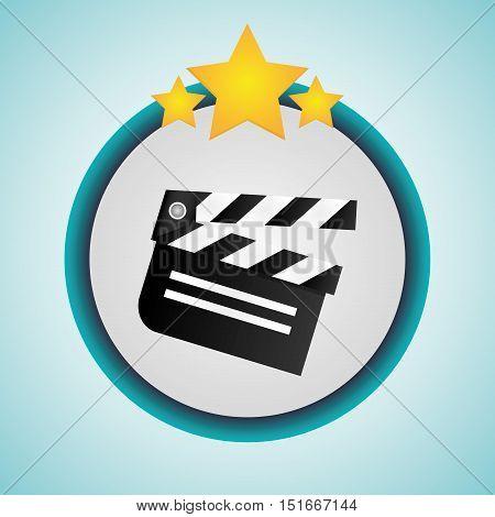 Clapboard icon. Cinema movie video film and entertainment theme. Colorful design. Vector illustration