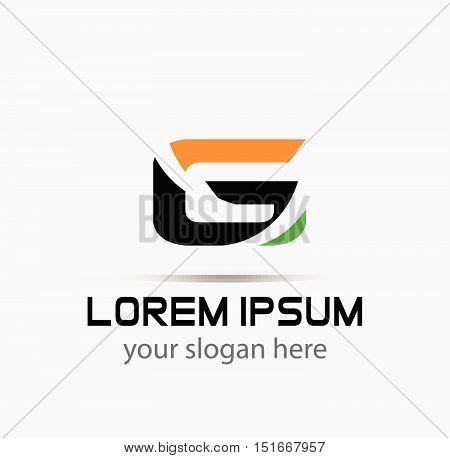 Abstract letter G logo icon design design vector template
