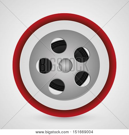 Film reel icon. Cinema movie video film and entertainment theme. Colorful design. Vector illustration