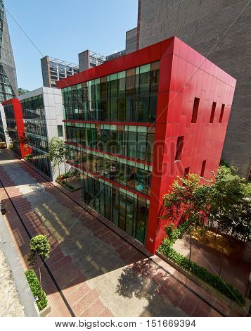 SELANGOR/MALAYSIA - SEPT 30 2016: Streets and office buildings of Empire Damansara Empire Damansara is a mixed development that aims to satisfy business and lifestyle needs. It is nestled in the heart of Damansara Perdana in Petaling Jaya.Malaysia .