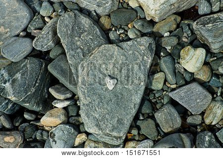 Heart Of Stone On Stone Texture
