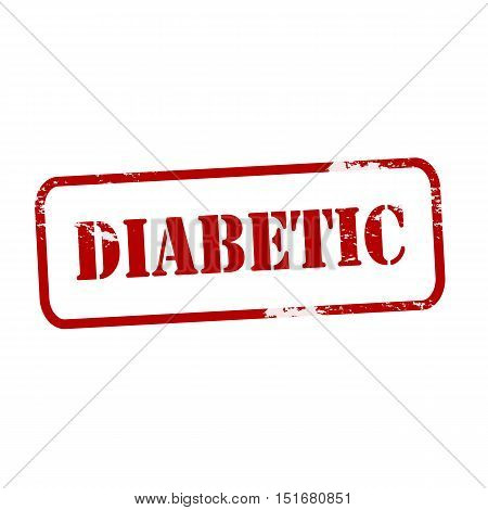 Rubber stamp with word diabetic inside vector illustration