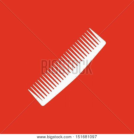 The comb icon. Barbershop symbol. Flat Vector illustration