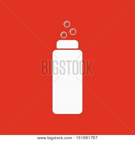 The Liquid Soap, Lotion, Cream, Shampoo icon. Shower Gel symbol. Flat Vector illustration