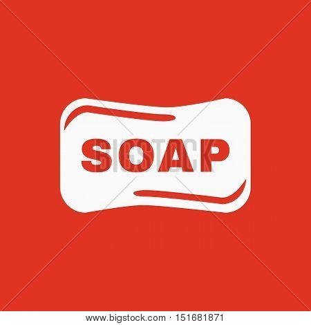 The soap icon.  Soap symbol. Flat Vector illustration