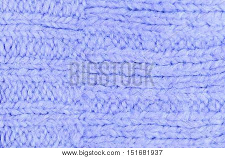 Knitted wool fabric texture background - winter texture close up