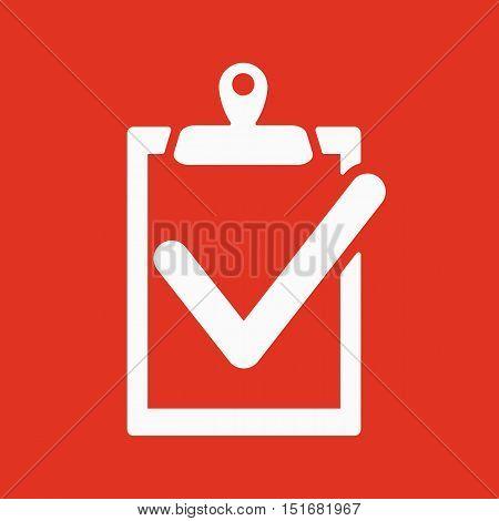 The clipboard icon. checklist symbol. Flat Vector illustration. Button Set