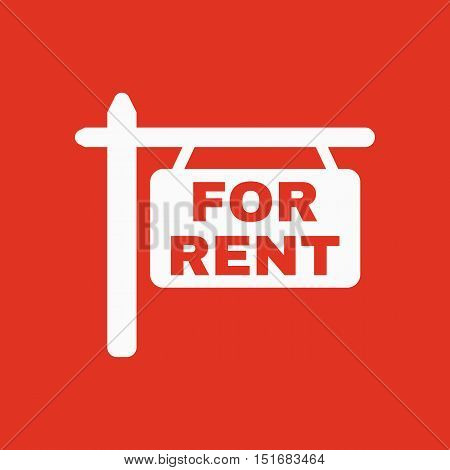 The for rent icon. Rent symbol. Flat Vector illustration