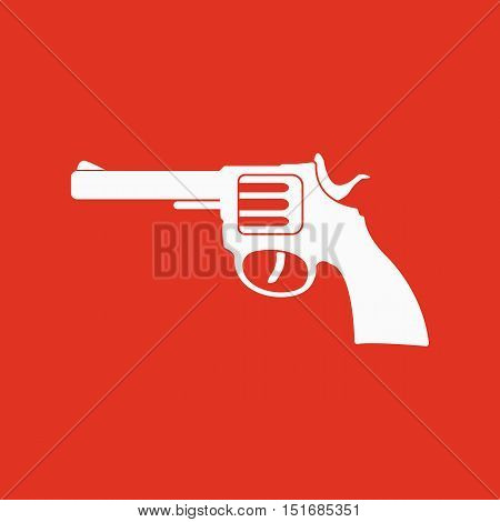 The revolver icon. Gun and weapon symbol. Flat Vector illustration