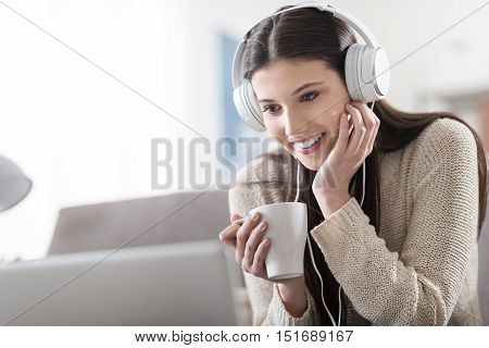 Girl Watching A Movie Online