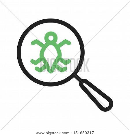 Bug, software, error icon vector image. Can also be used for software development. Suitable for mobile apps, web apps and print media.