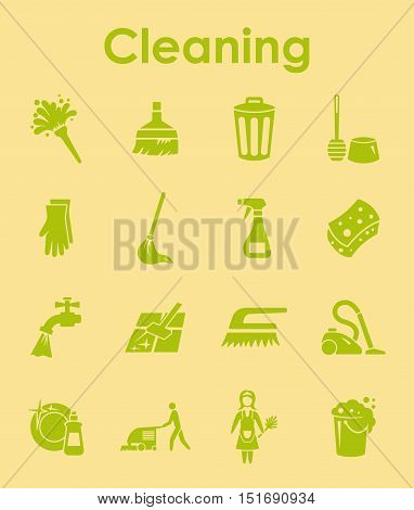 It is a set of cleaning simple web icons