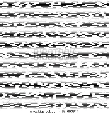Vector Thin Line Pattern. Minimal Monochrome Graphic Design. Seamless Lined Paper Background. Abstract Print Texture