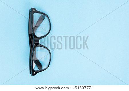 Top View Of Trendy Eyeglasses