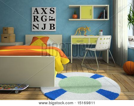 Interior Of The Modern Childroom