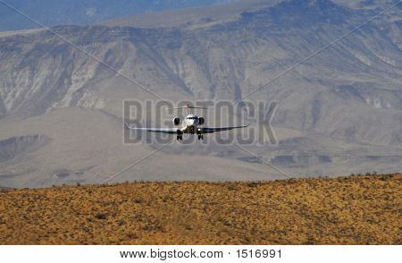 Aircraft On Approach Mountains