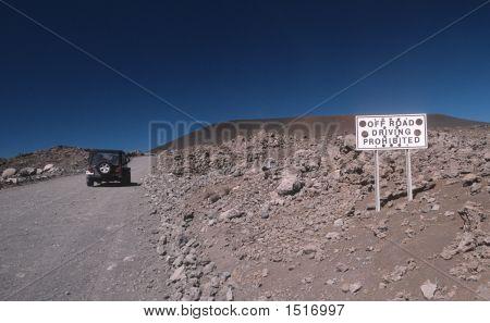 Sign No Off Road Driving