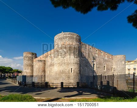 Castello Ursino Or Bear Castle In Catania, Sicily