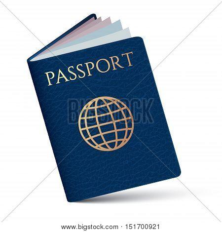 passport identity isolated on white background .