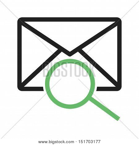 Message, mail, search icon vector image. Can also be used for user interface. Suitable for mobile apps, web apps and print media.
