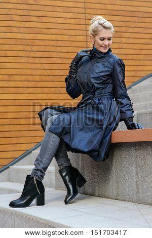 Stylish Girl At The Street