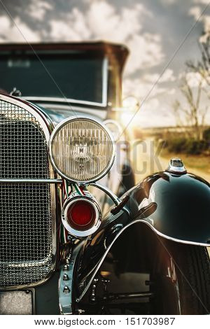 Traveling On An Old Car 20S