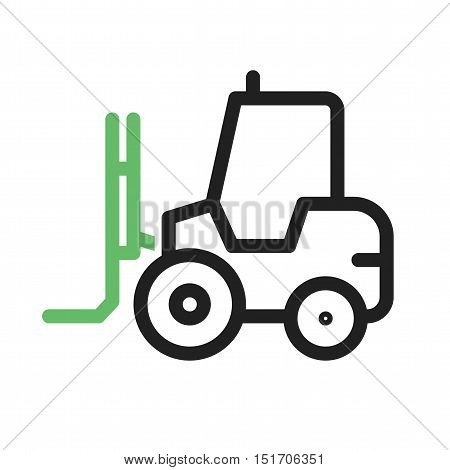 Forklift, loader, truck icon vector image. Can also be used for Industrial Process. Suitable for mobile apps, web apps and print media.