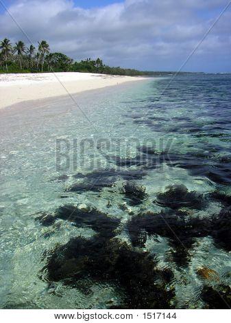 Unspoiled Kolovai Beach, Tonga, South Pacific