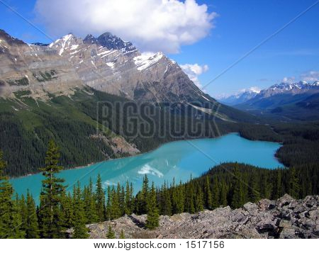 Peyto Lake And  Mount Patterson Banff National Park Canada