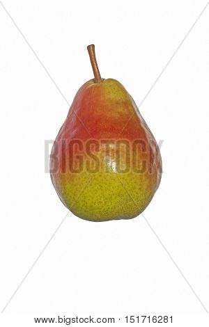 Bartlett pear (Pyrus communis Bartlett). Called Williams pear also. Image of pear isolated on white background