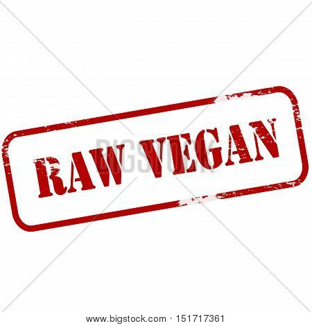 Rubber stamp with text raw vegan inside vector illustration
