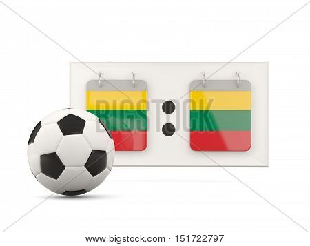 Flag Of Lithuania, Football With Scoreboard