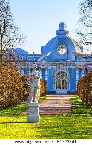 Classic sculpture the Catherine Park of Tsarskoe Selo Museum. The town of Pushkin a monument of architecture of XVIII-XIX centuries. Russia Saint-Petersburg Pushkin