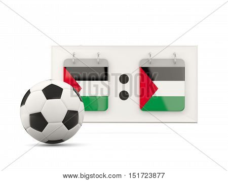 Flag Of Palestinian Territory, Football With Scoreboard