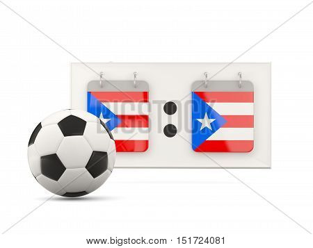 Flag Of Puerto Rico, Football With Scoreboard